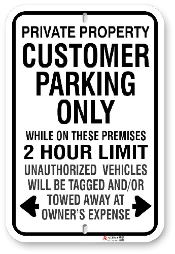 1CP004 Customer Parking Sign with Time Limit and Toronto Municipal code 915