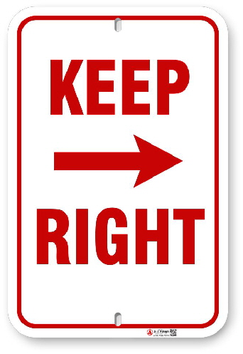 1KR001 Keep Right sign