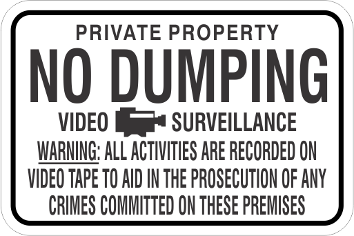 No Dumping Signs