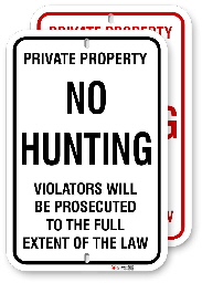 1nhr01 no hunting sign made by all signs co