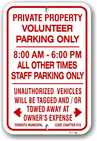 1npv01 volunteer parking only with time limits and unauthorized vehicles will be tagged and towed away