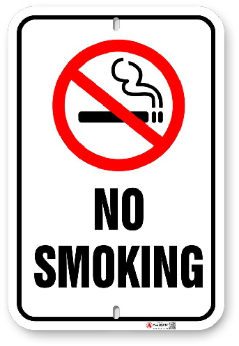 1NS001 No Smoking sign