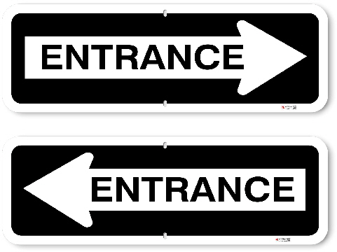 1OWR02 Aluminum One Way Entrance Sign