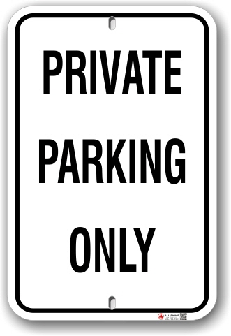 1pp002 private parking only parking sign made by all sign