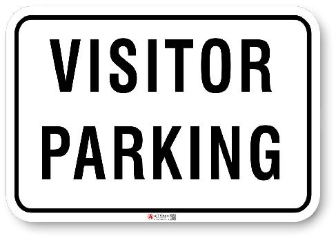1VP003 Standard Visitor Parking sign