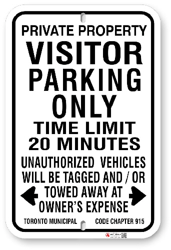 1VPP22 Visitor Parking Only with Time Limit  with Toronto Municipal Code Chapter 915