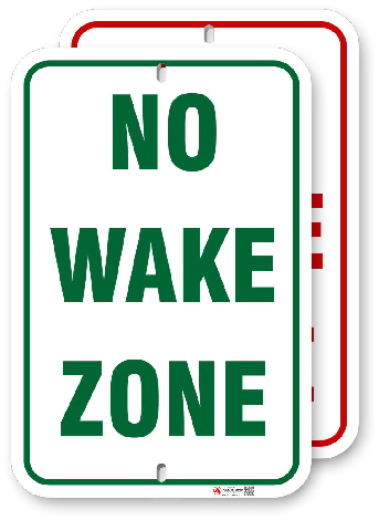 1wz002 no wake zone by all signs co