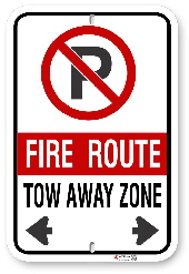 2FRC02 Toronto - Scarborough Fire Route sign