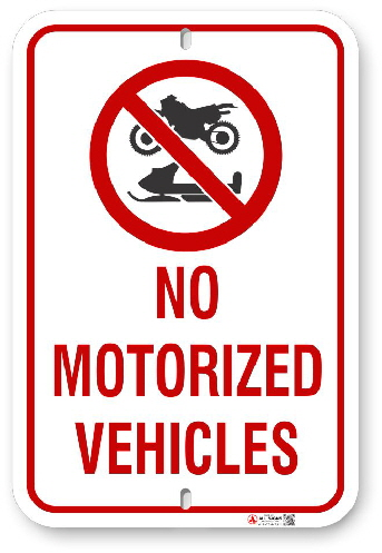 2MV001 No Motorized Vehicles sign