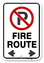2RF01 City of Brampton Fire Route sign