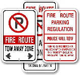Fire Route Signs for Toronto, Mississauga, Scarborough, Peterburogh