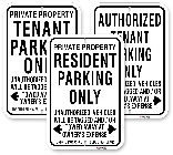 Resident & Tennant Only Parking Signs, City of Toronto Muncipal Code Chapter 915
