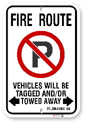 2MFR01 City of Markham Fire Route sign By-Law 2005-188