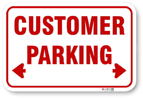 RCP001 Customer Parking sign