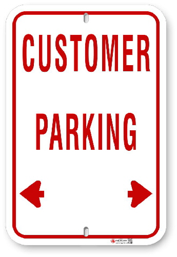 RCP002 Customer Parking sign