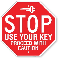 st003 stop sign for key entrance made by all signs co