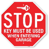 st005 stop sign for key entrance made by all signs co